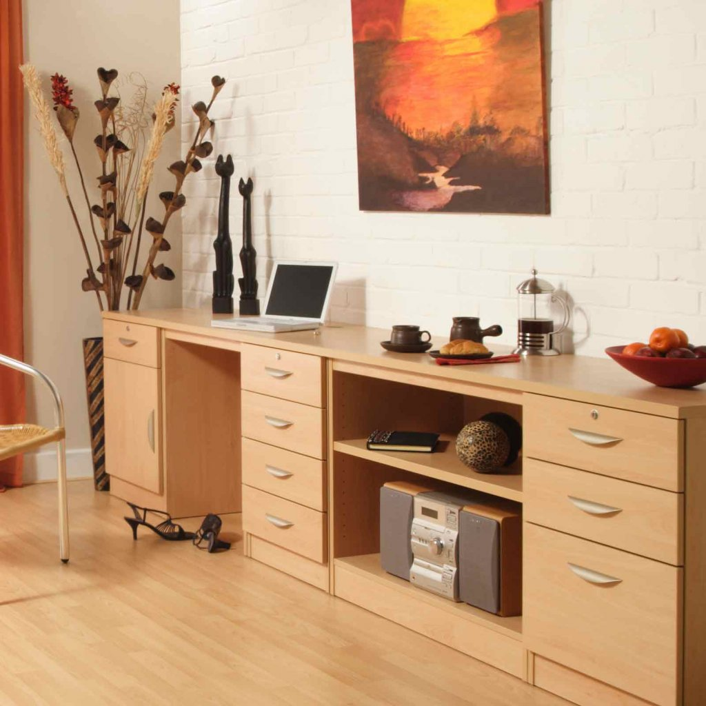 Modular home office furniture - Vale Furnishers Modular Home Office In Beech
