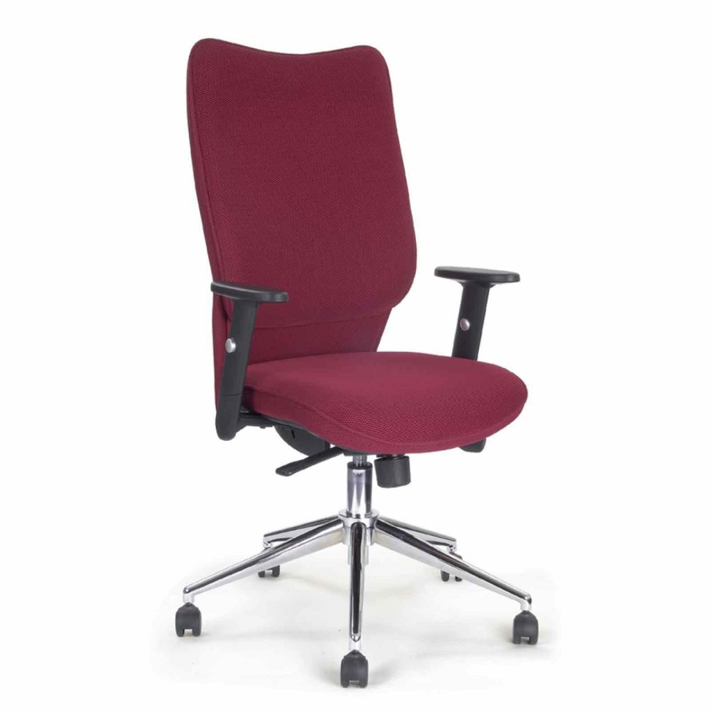 vale furnishers high back modern red office chair