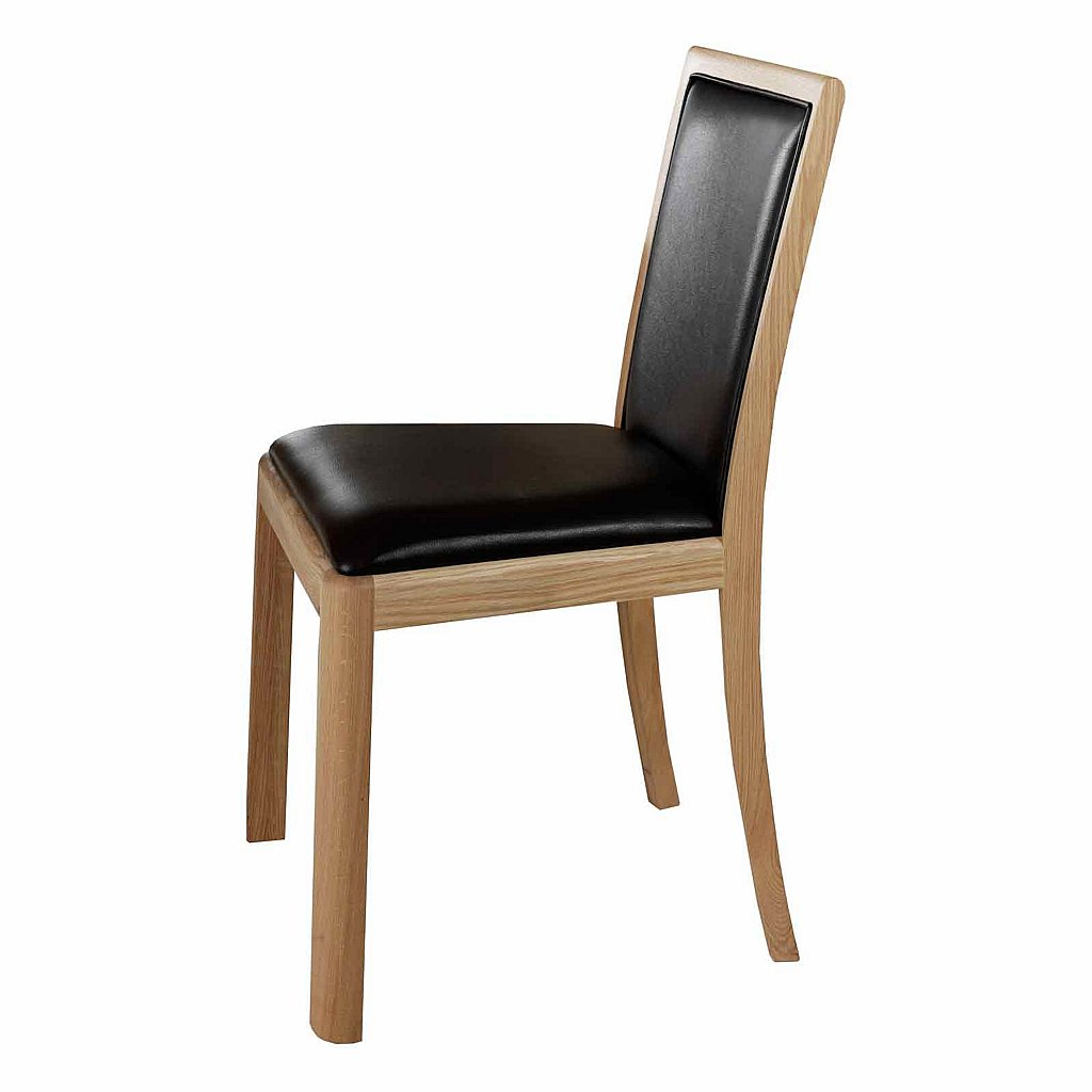 Vale furnishers carlson upholstered leather dining chair for Leather upholstered dining chairs