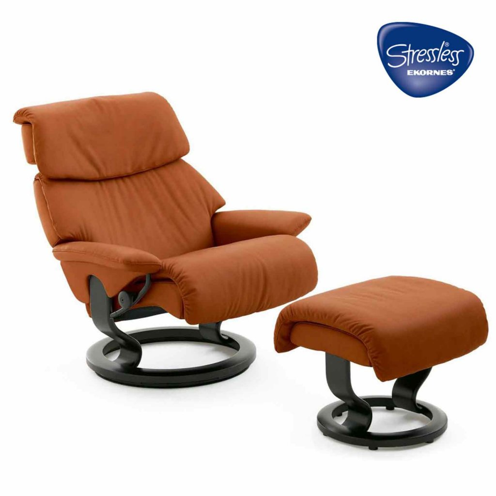 ekornes spirit stressless spirit large recliner and. Black Bedroom Furniture Sets. Home Design Ideas