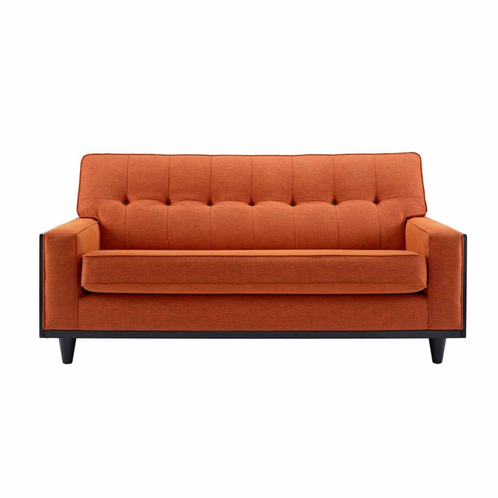 Very Impressive portraiture of  nine small sofa in tonic orange fabric Wood Frame Sofas Uk sofa with #AE4D1D color and 1024x1024 pixels