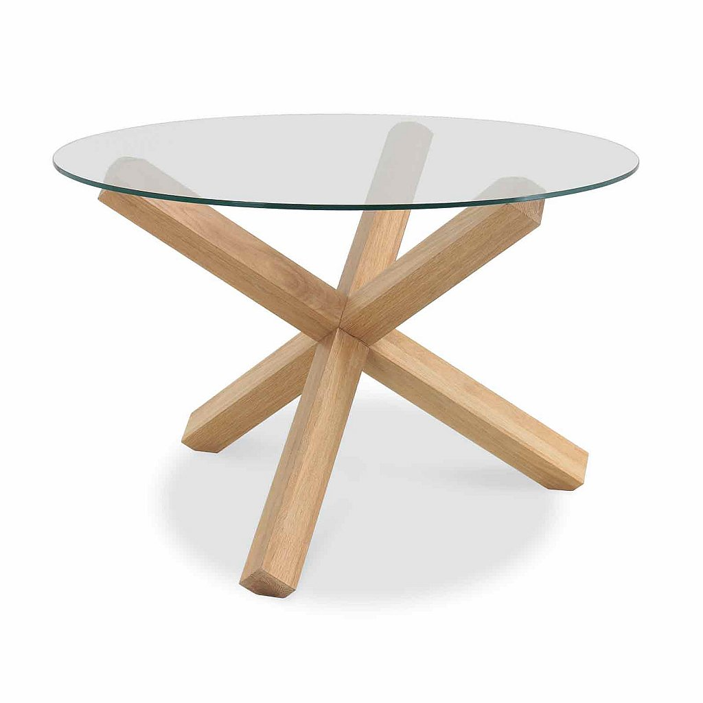 12564 glass round dining table