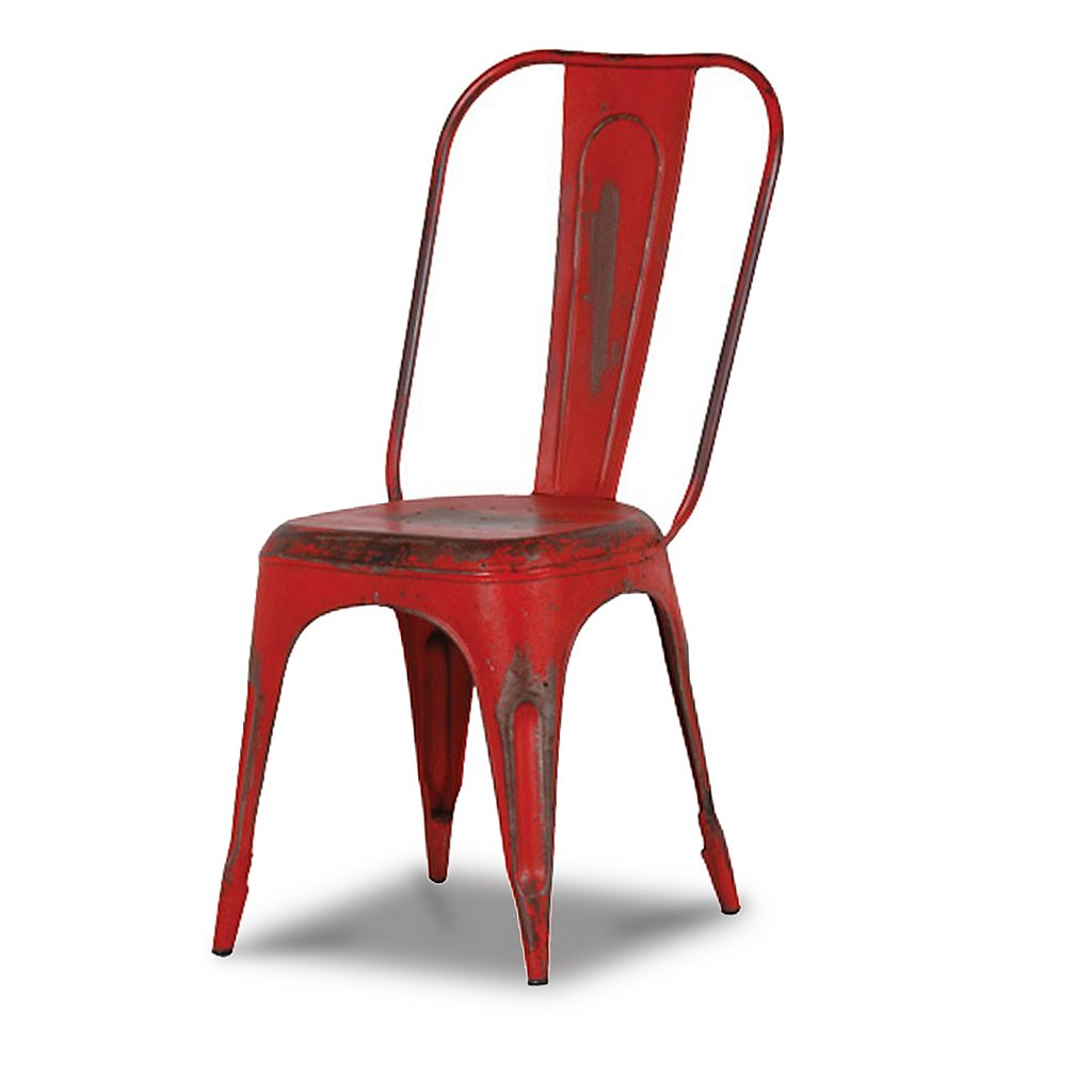 red metal dining chair 119 this attractive metal chair will