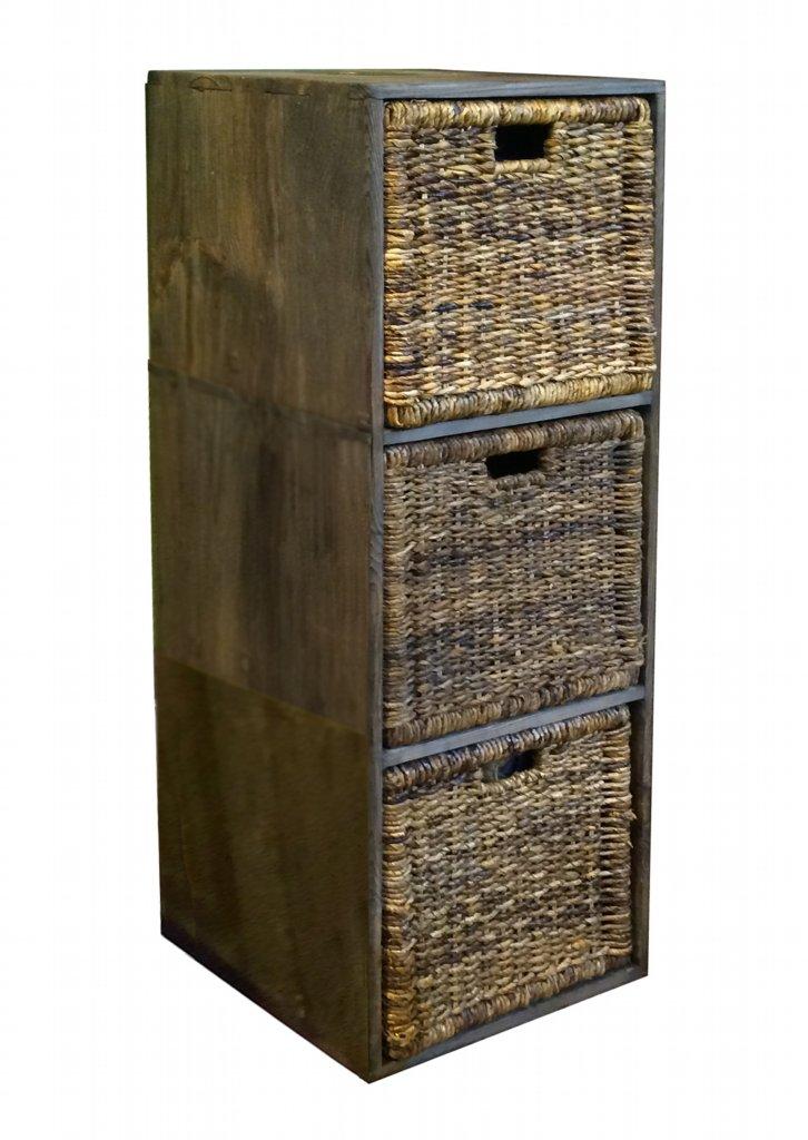 vale furnishers suffolk pine 3 cube storage unit with baskets. Black Bedroom Furniture Sets. Home Design Ideas