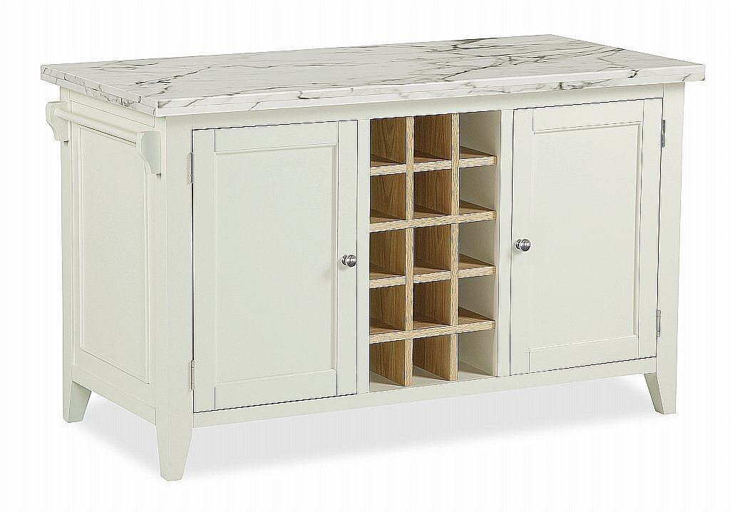 vale furnishers prairie kitchen island with marble top