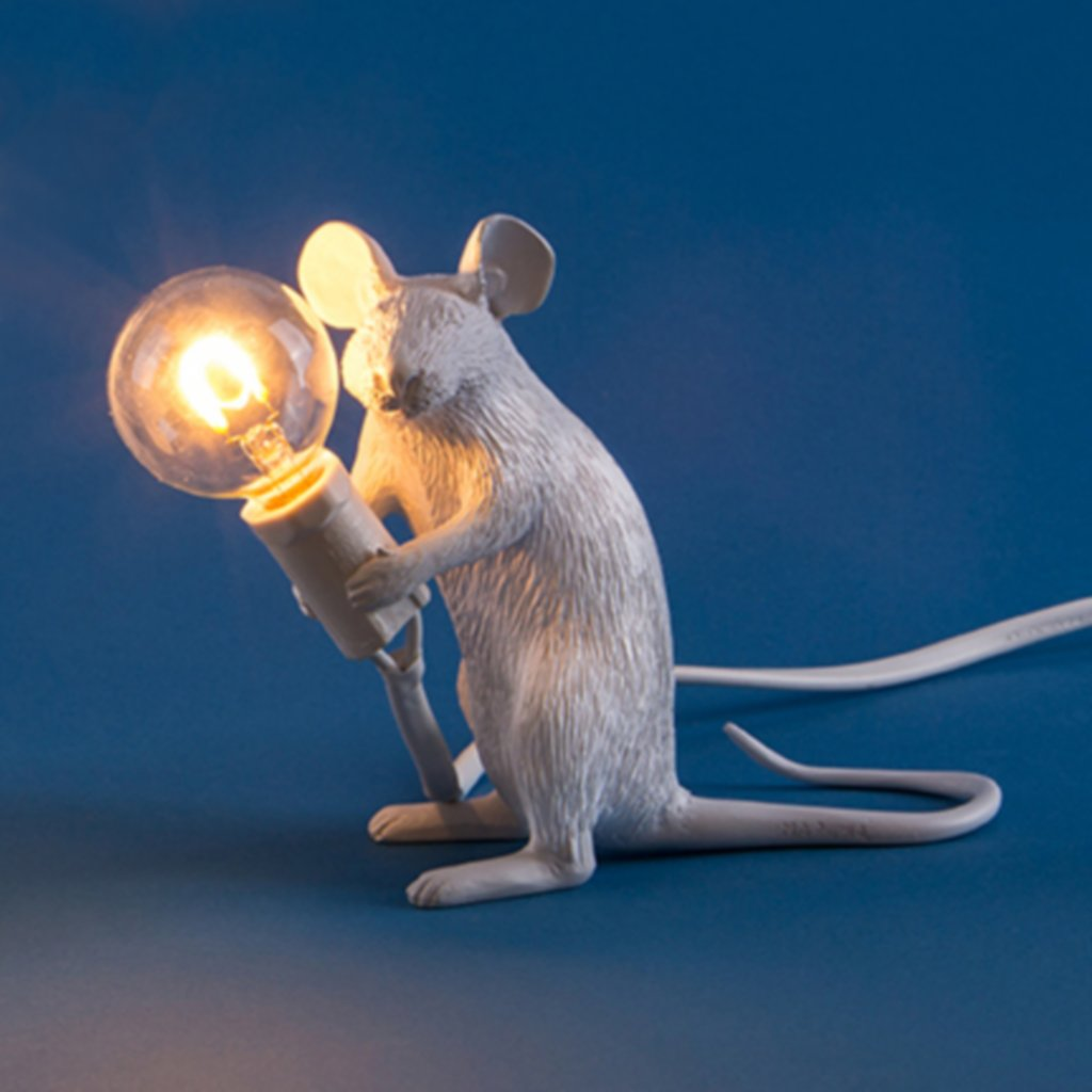 Seletti Sitting Mouse Lamp Vale Furnishers