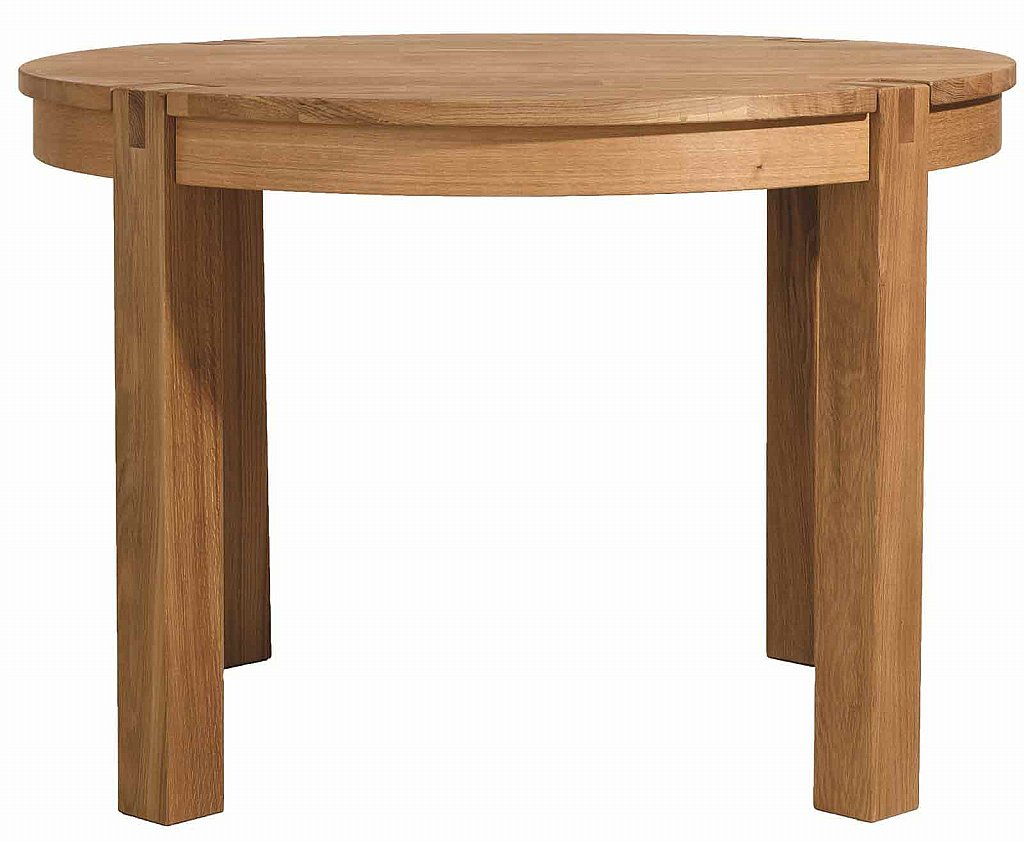 Vale Furnishers Vale Oak Round Dining Table With Space Saver Chairs