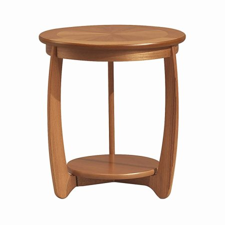 Nathan - Teak Collection Shades Sunburst Top Lamp Table. Click for larger image.