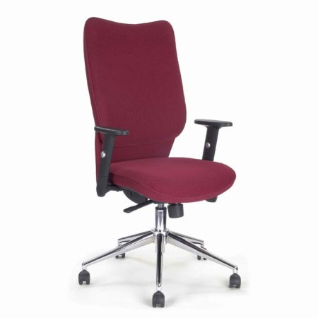 Vale Furnishers - High Back Modern Red Office Chair. Click for larger image.