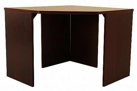 Vale Furnishers -  Mahogany Corner Desk. Click for larger image.