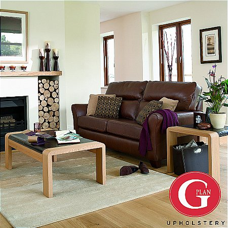 G Plan Upholstery - Gemma Leather Sofa. Click for larger image.