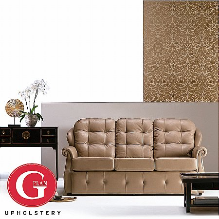 G Plan Upholstery - Oakland Three Seater Leather Sofa. Click for larger image.