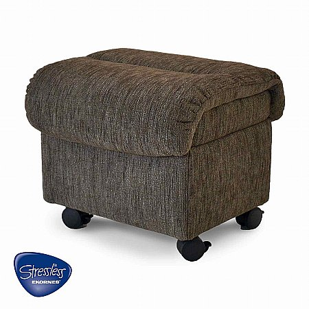 Stressless - Ottoman in Cocoon Grey. Click for larger image.