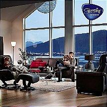 leather reclining sofas vale furnishers. Black Bedroom Furniture Sets. Home Design Ideas