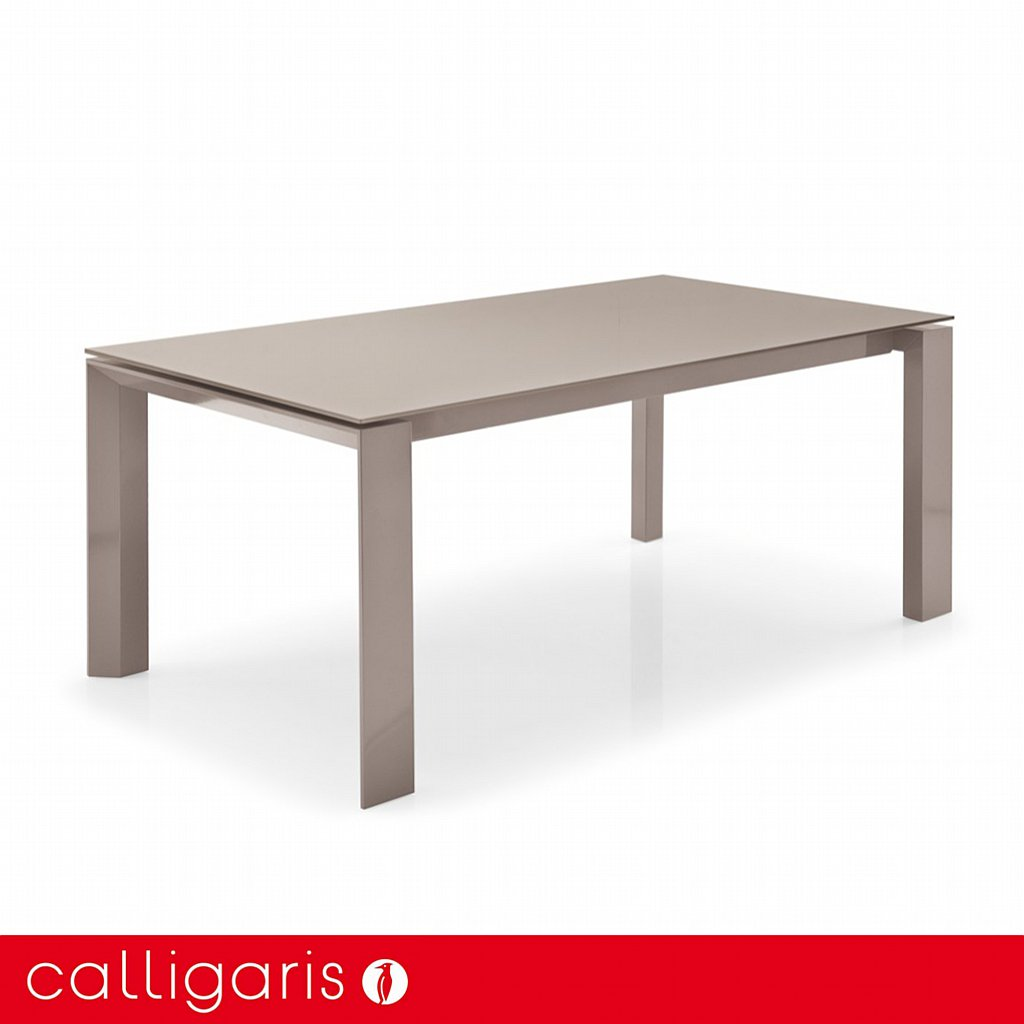 Calligaris Omnia Glass Dining Table 200cm Frosted Coffee Vale
