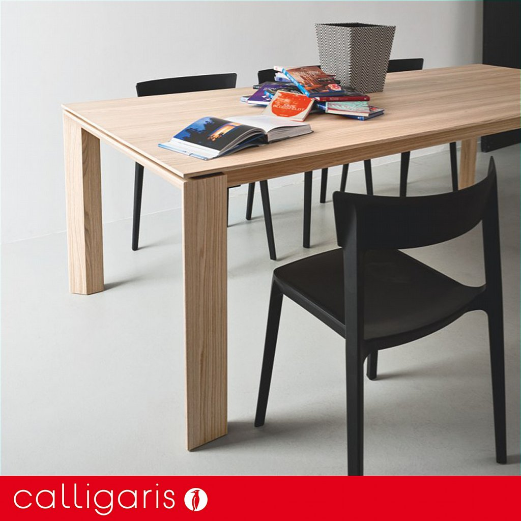 Calligaris Omnia Wood Extending Dining Table 160cm