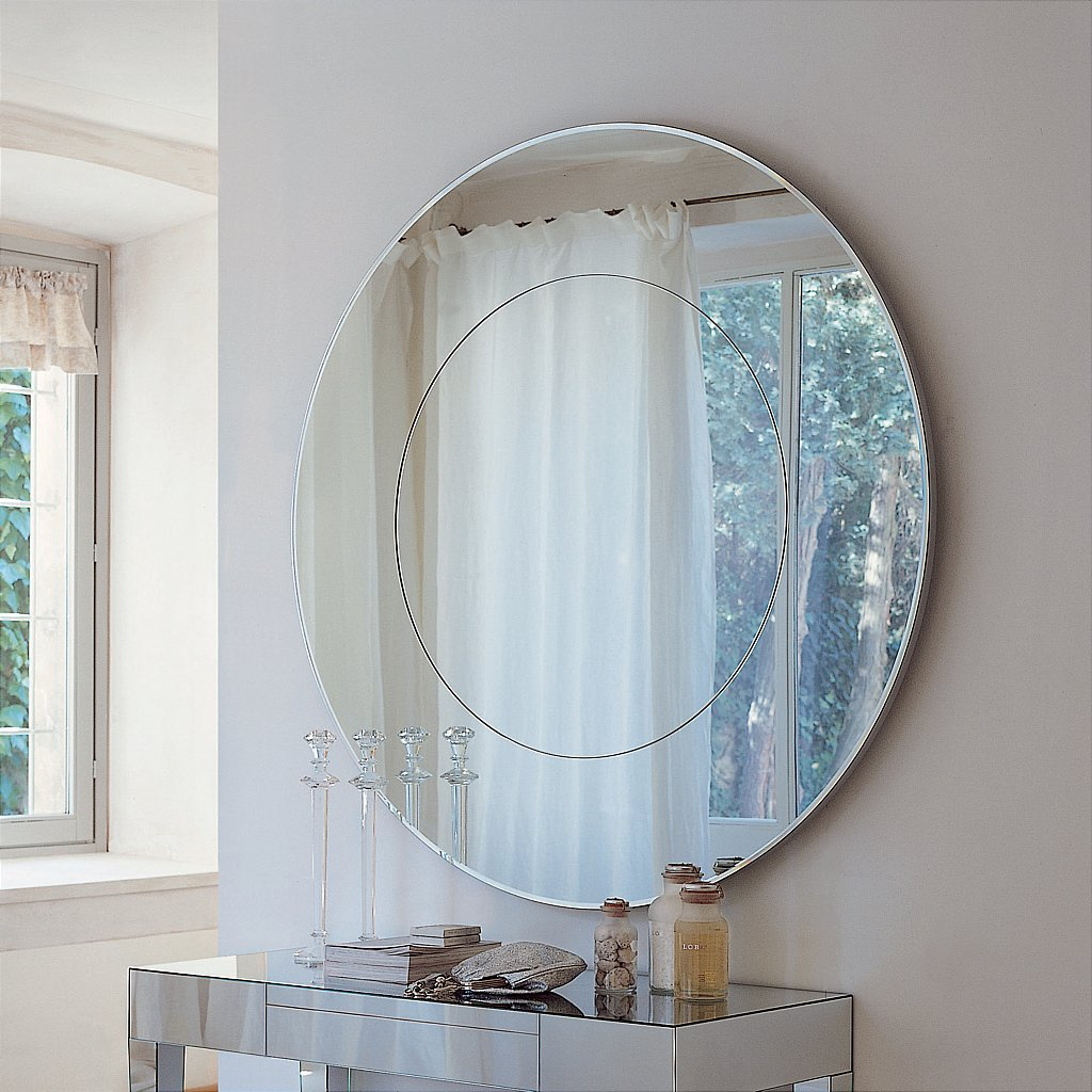 Porada four seasons round mirror vale furnishers for Big circle mirror