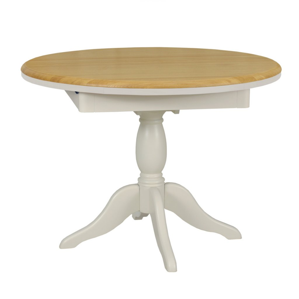 Vale Furnishers Oliver Painted Round Extending Dining  : L19046RoundDiningTableCOWEB from www.valefurnishers.co.uk size 1024 x 1024 jpeg 39kB