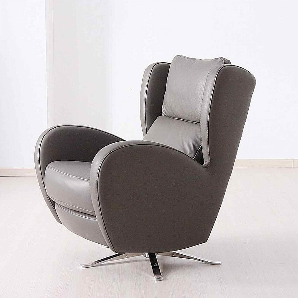 Vale furnishers morgan swivel chair leather for Swivel club chair leather