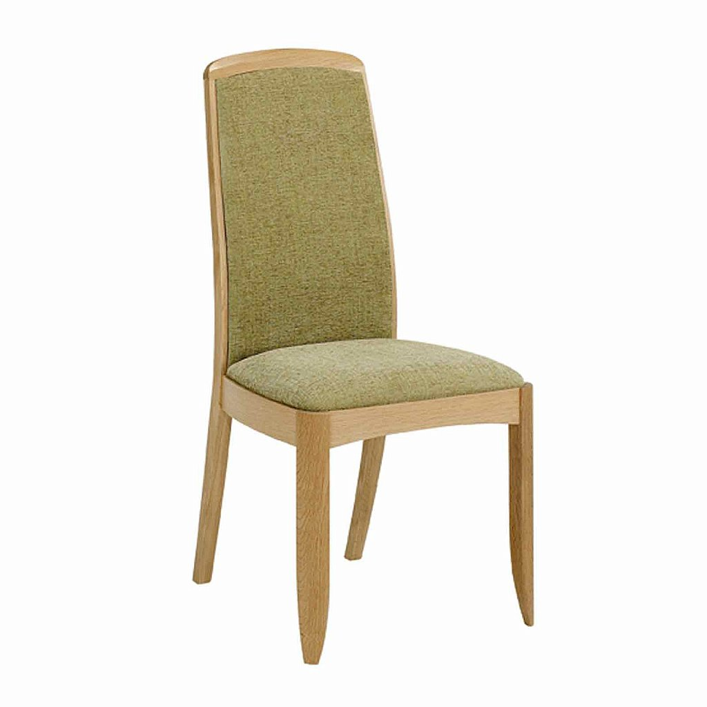 Nathan shades in oak fully upholstered dining chair for Upholstered dining chairs
