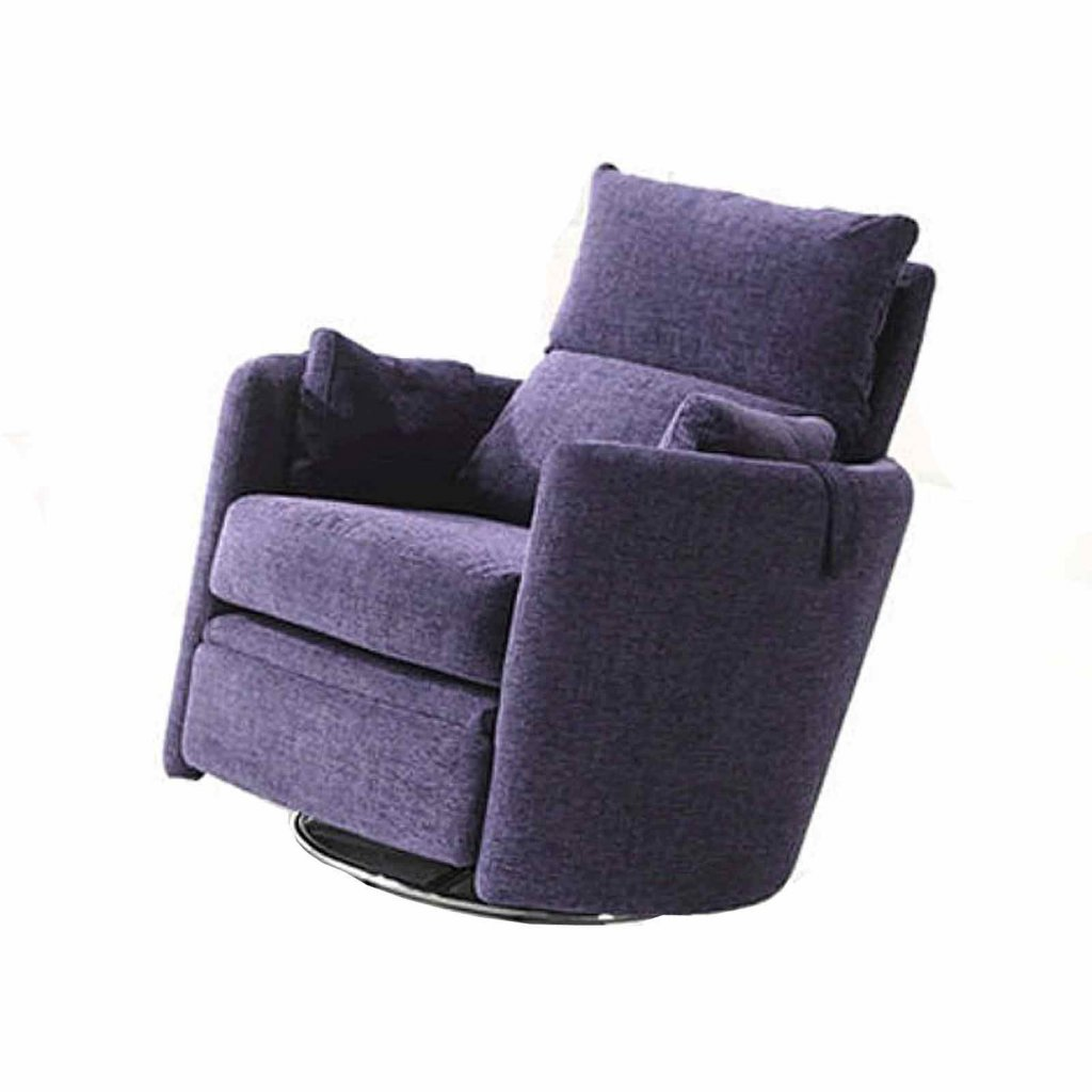 Swivel recliner chairs flash furniture leather recliner for Bella flora chaise lounge