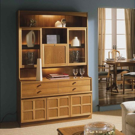 5615/Nathan/Teak-Collection-Classic-Cocktail-Combination-Wall-Unit