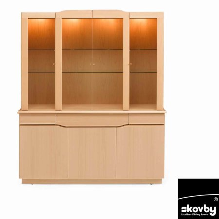 3785/Skovby/SM303-with-SM354-3-Door-Sideboard-with-4-Door-Display-Cabinet