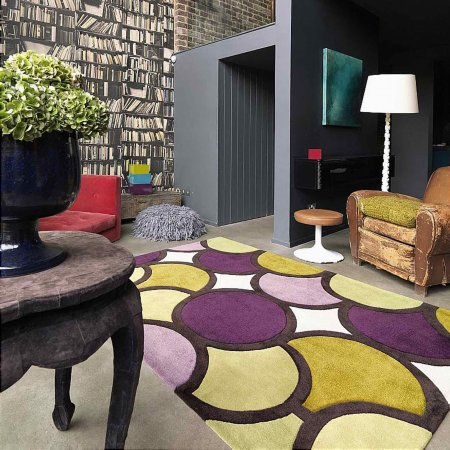 4410/Vale-Furnishers/Harlequin-Bubble-Purple-Green-Rug