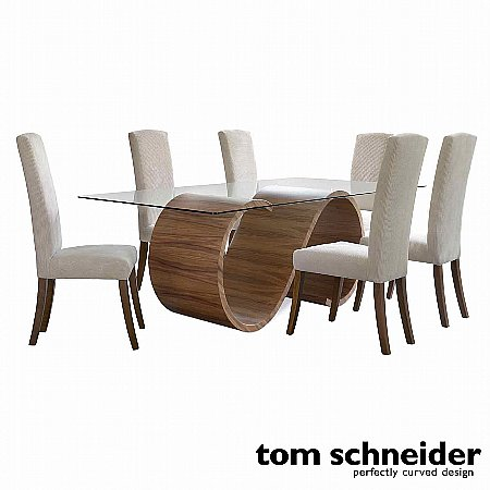 9766/Tom-Schneider/Swirl-Dining-Table-and-6-Poise-Chairs