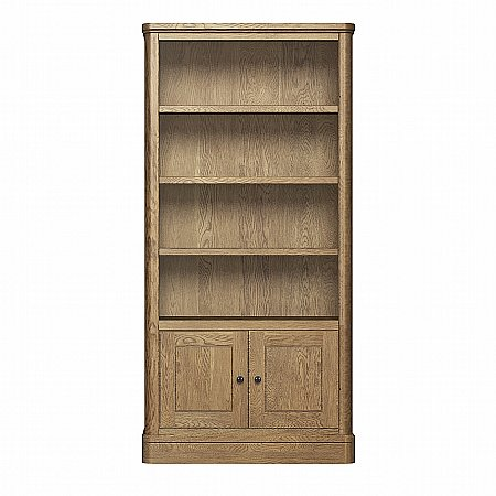 10124/Vale-Furnishers/Cove-Tall-Bookcase-with-Cupboard