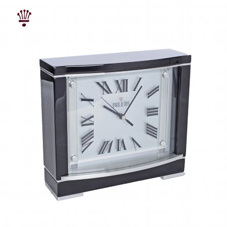 4979/BilliB/Beckett-Mantel-Clock-in-Piano-Black-Finish