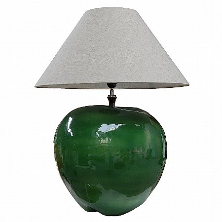 10657/Vale-Furnishers/Céramique-Green-Apple-Lamp