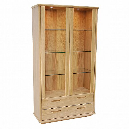 11882/Vale-Furnishers/Bruges-Tall-2-Door-Display-Unit