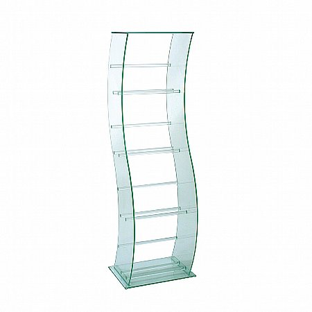 16198/Vale-Furnishers/Glass-S-Shaped-DVD-Video-Stand