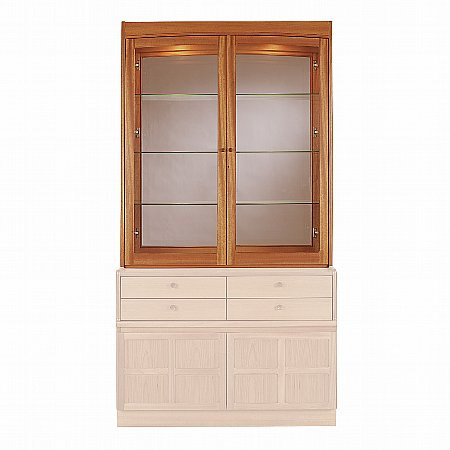 12997/Nathan/Teak-Collection-Classic-Glazed-Display-Top-Unit