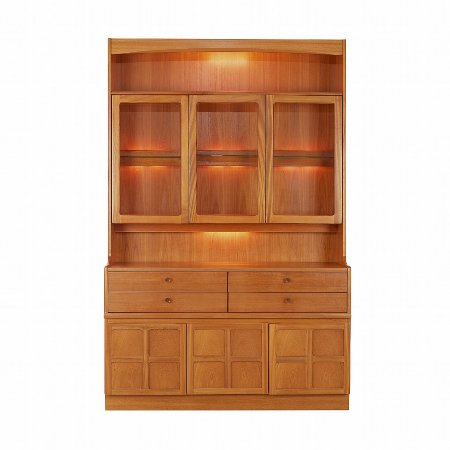 773/Nathan/Teak-Collection-Classic-Display-Combination-Unit