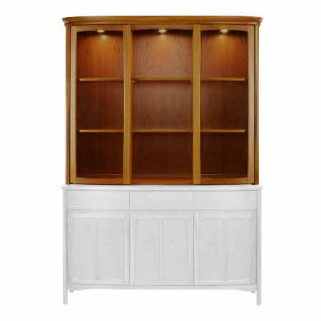 3077/Nathan/Teak-Collection-Shades-Display-Top-Unit-with-Glass-Doors