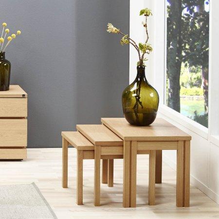5644/Skovby/SM224-Nest-of-Tables-in-Oak-Finish
