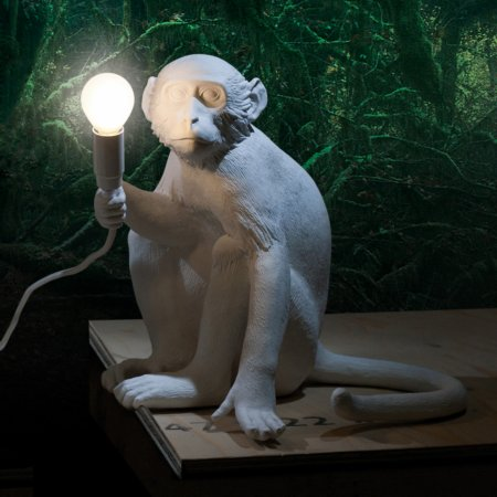 14458/Seletti/Sitting-Monkey-Lamp
