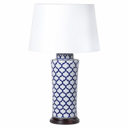 14661/Vale-Furnishers/Lamp-Shade-with-Blue-and-White-Jar