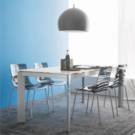 11331/Connubia/Baron-MV110-Extending-Dining-Table-Chrome-Triangular-Legs