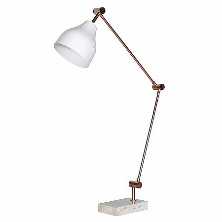 15277/Vale-Furnishers/Marble-Base-Desk-Lamp-With-White-Shade