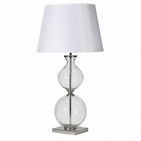 15278/Vale-Furnishers/Glass-Bubble-Lamp-With-Shade