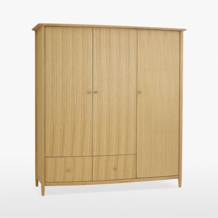 15357/Vale-Furnishers/Lotus-Natural-Triple-Wardrobe-with-2-Drawers