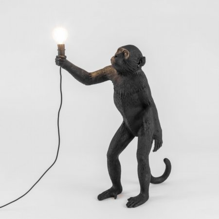 15532/Seletti/Standing-Black-Monkey-Lamp