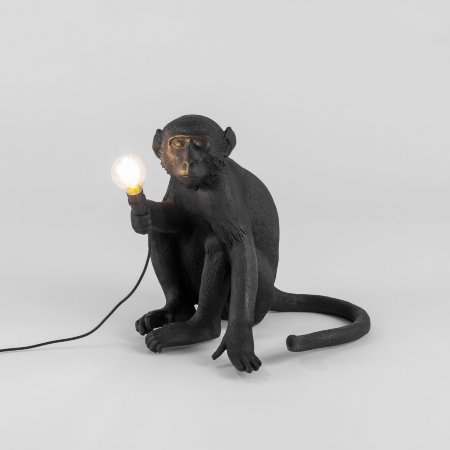 15533/Seletti/Sitting-Black-Monkey-Lamp