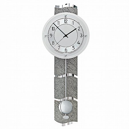 15793/BilliB/QC9090-Grey-Stone-Effect-Wall-Clock-(Radio-Controlled)