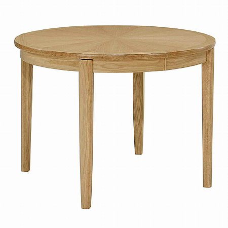 8973/Nathan/Shades-in-Oak-Circular-Extending-Dining-Table-with-Legs-and-Sunburst-Top