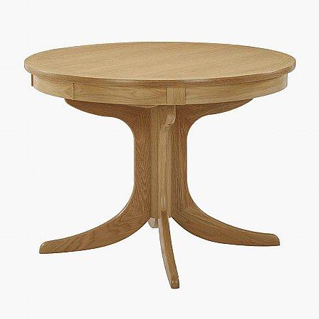 8974/Nathan/Shades-in-Oak-Circular-Pedestal-Extending-Dining-Table