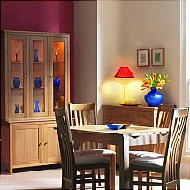 Vale Furnishers - Cirrus Satin Dining Range